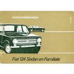 FIAT 124 Sedan en Familiale instructieboekje