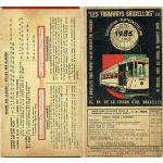 Les Tramways Bruxellois - Exposition 1935. Plan du réseau des Tramways Bruxellois édité à l'occasion de l'Exposition universelle de 1935
